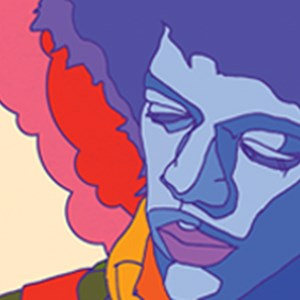 Hendrix portrait artwork