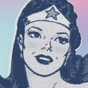 Drawing of Superwoman