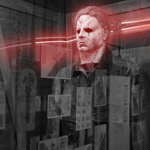 Michael Myers eerily at Scared to Death