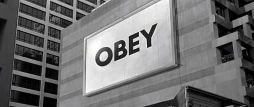 Obey billboard scene in They Live
