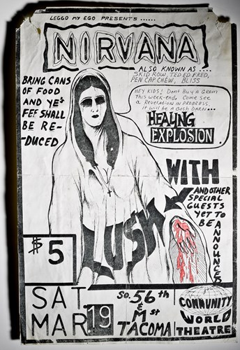 Nirvana's first show poster