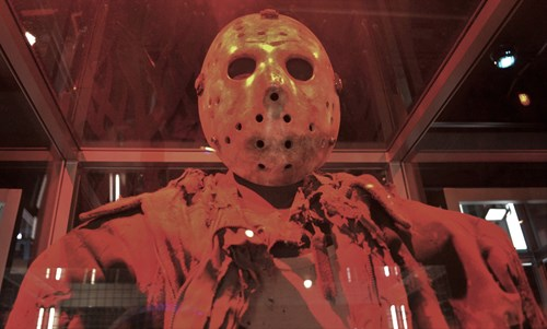 Jason's mask and outfit closeup