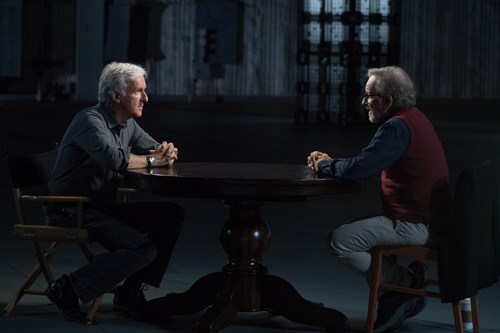 James Cameron interviewing Steven Spielberg
