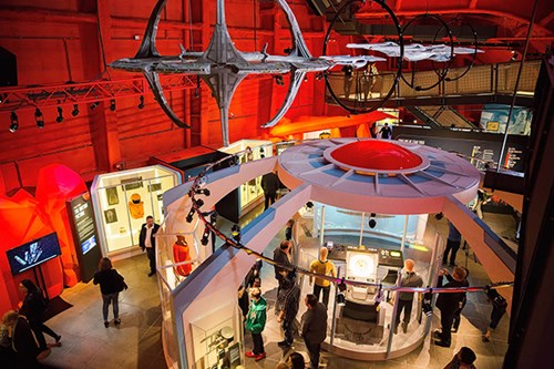 Overhead view of the Star Trek gallery