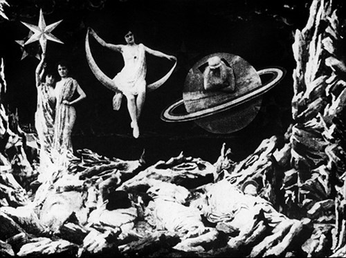 Scene from George Melies's A Trip to the Moon