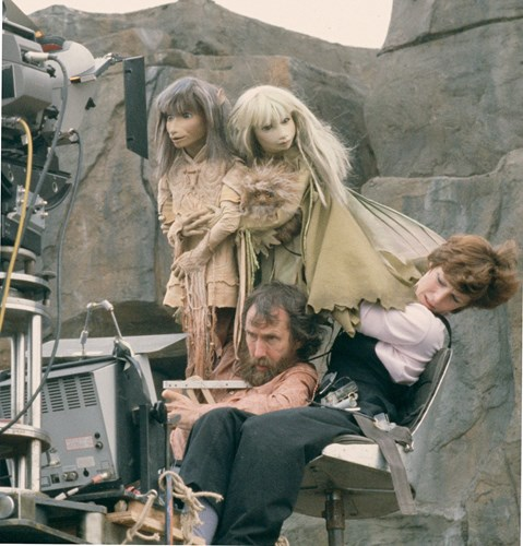 Behind the scene during the filming of Dark Crystal