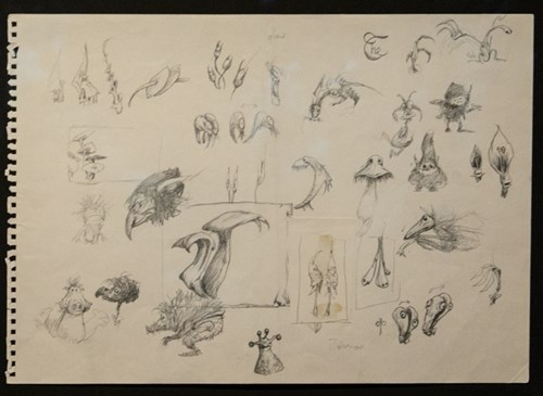 Concept sketches for Dark Crystal