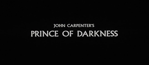John Carpenters Prince of Darkness title screen