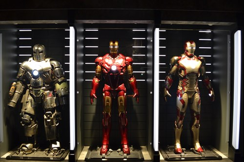 Iron Man versions exhibit at MoPOP