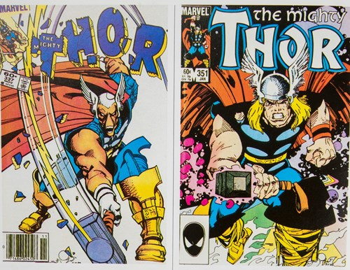 The Mighty Thor comic cover artwork