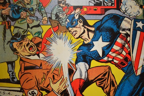 Captain America comic cover artwork