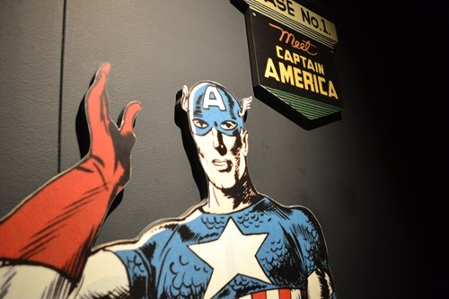 Captain America cut out at MoPOP