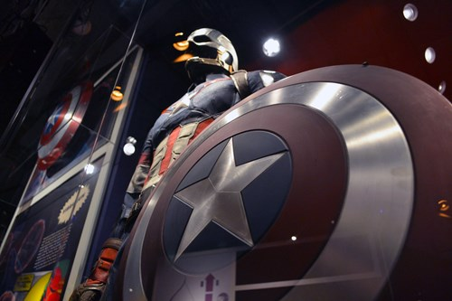 Captain America costume at MoPOP