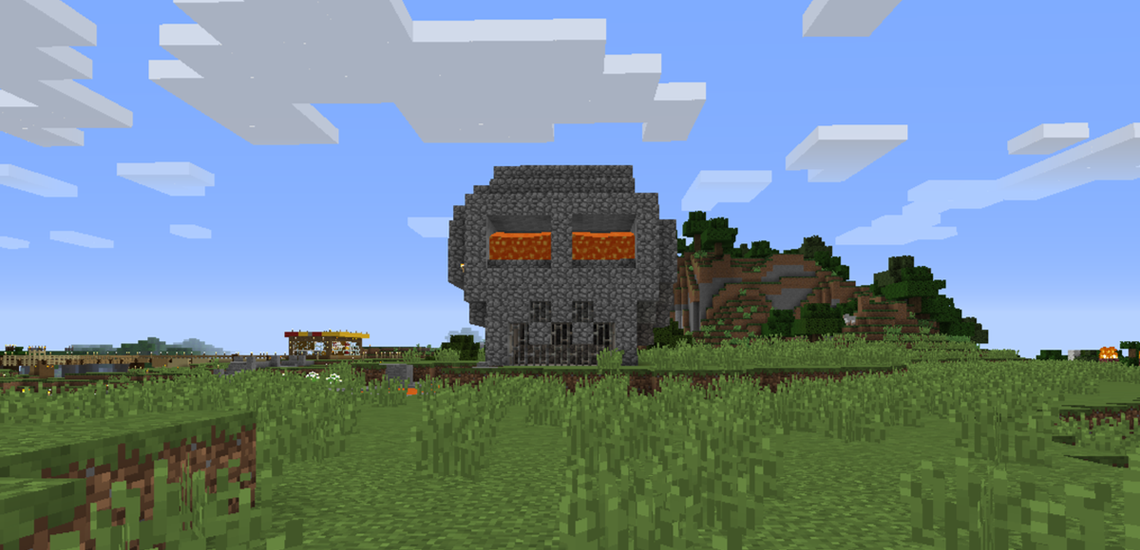 Minecraft The Skull With Lava Eyes Museum Of Pop Culture