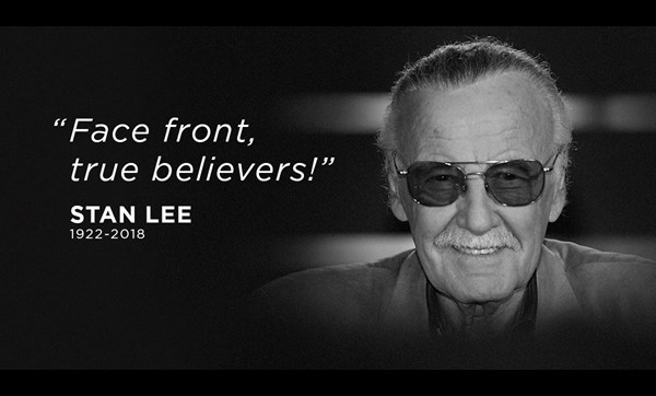 Stan Lee portrait and quote