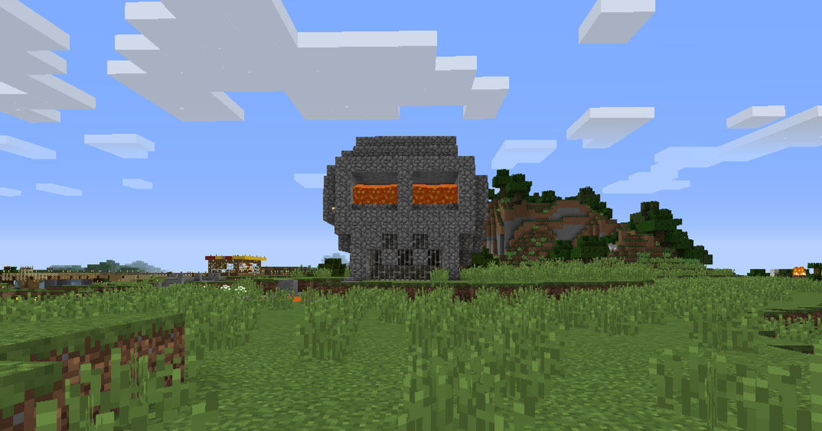 Minecraft The Skull With Lava Eyes The Mopop Blog