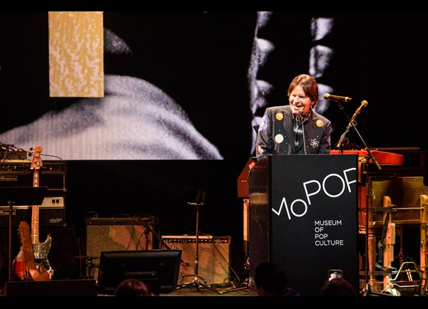 John Fogerty accepting the Founders Award at MoPOP