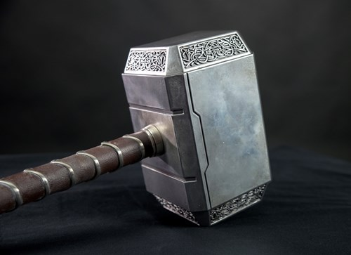 Thor's hammer prop at MoPOP