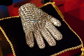 Michael Jackson's sequin jacket and glove
