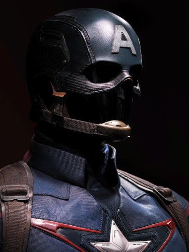 Captain America costume close up