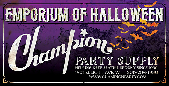 Champion Party Supply — 20% discount at Champion, show your Fashionably Undead ticket