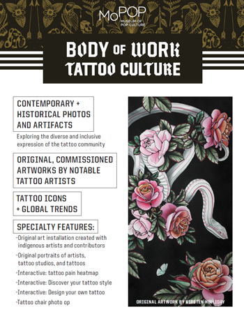 Body Of Work Tattoo Culture Travelling Museum Of Pop Culture